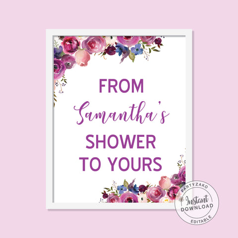 Purple - From my shower to yours Poster