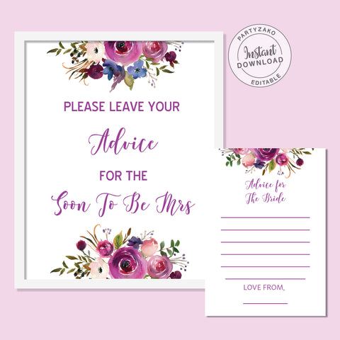 Purple Advice For the Bride