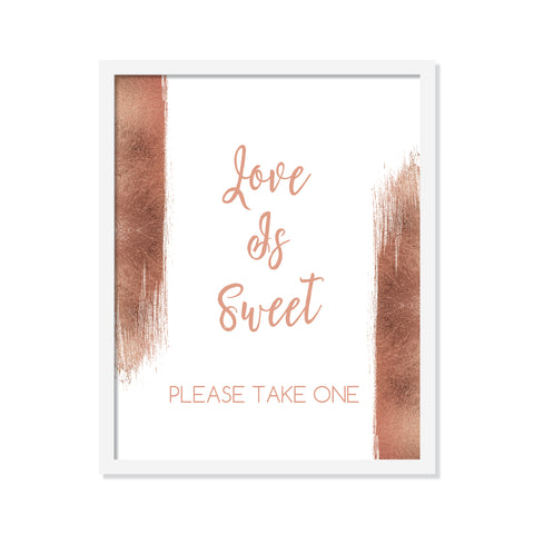 Rose Gold Love is Sweet Poster