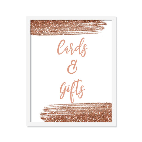 Rose Gold Cards & Gifts Poster