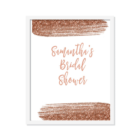 Rose Gold Welcome Poster