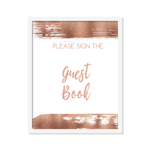 Rose Gold Guest Book Poster