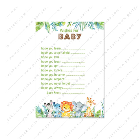 Safari Wishes for Baby