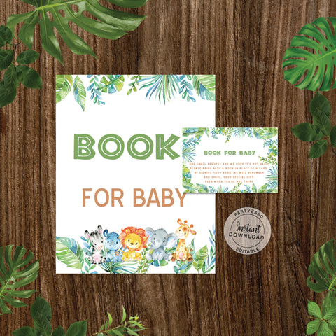 Safari Baby Shower Book Request