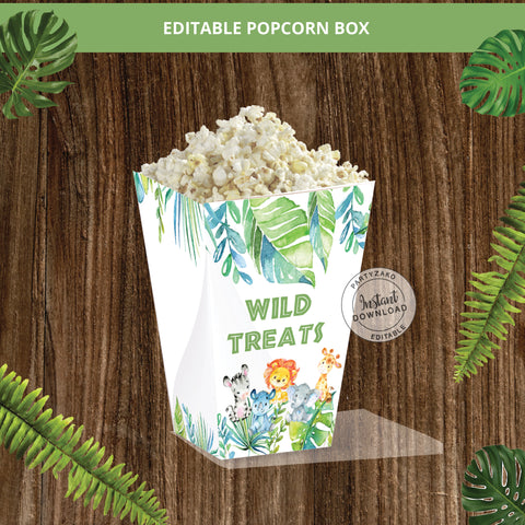 Safari Popcorn Box