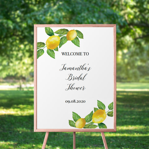 Lemon Bridal Shower Welcome Sign