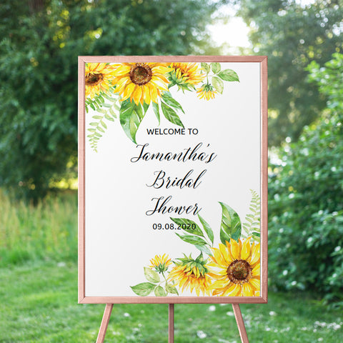 Sunflower Bridal Shower Welcome Sign
