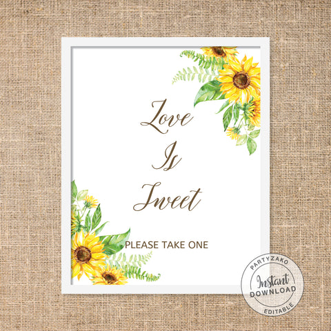 Sunflower Love is Sweet Poster