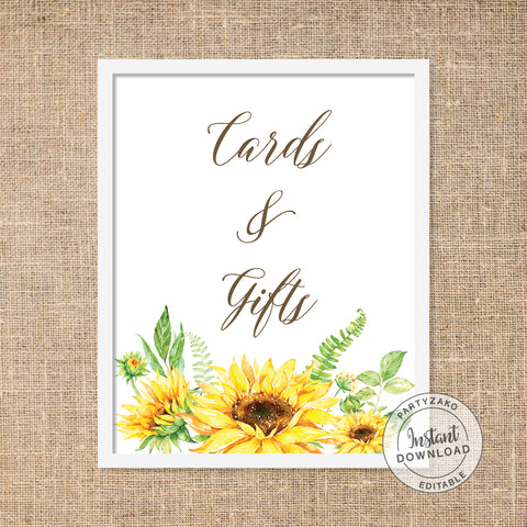 Sunflower Cards & Gifts Poster
