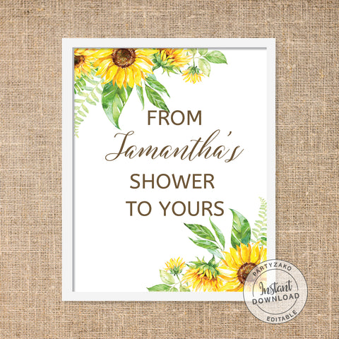 Sunflower - From my shower to yours Poster