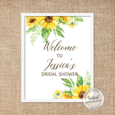 Sunflower Welcome Poster