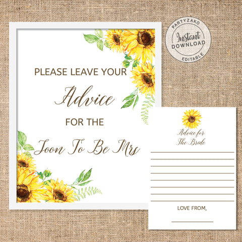 Sunflower Advice For the Bride