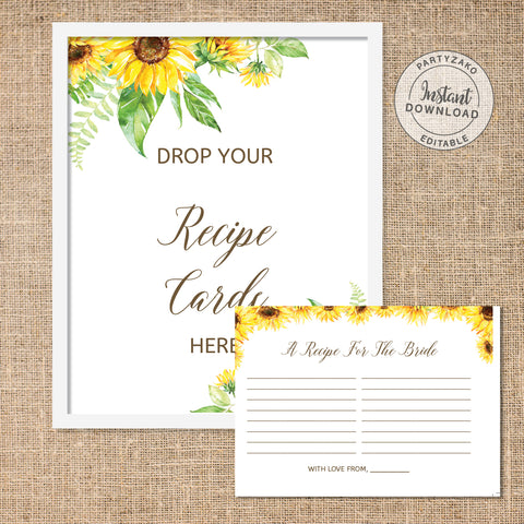 Sunflower Drop your recipes
