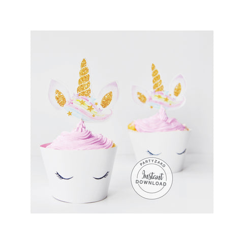 Unicorn Cupcake Topper and Wrapper
