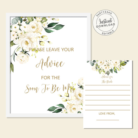 White Floral Advice For the Bride