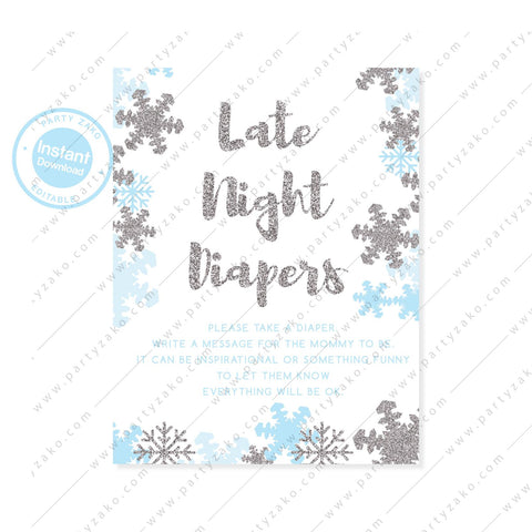 Winter Late night diapers