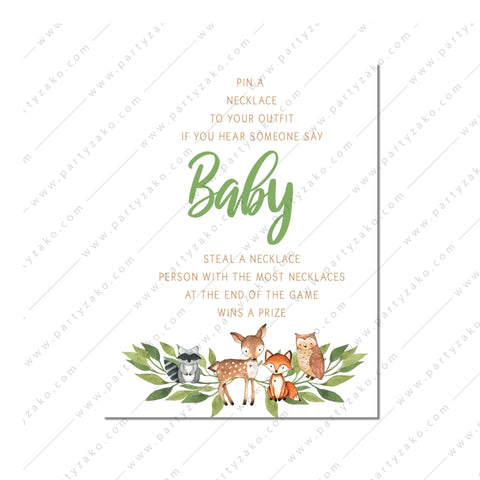 Girl Woodland Baby Alphabet Book