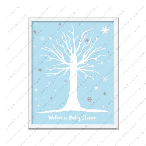 Winter Guestbook Baby shower