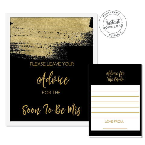 Black and Gold Advice For the Bride