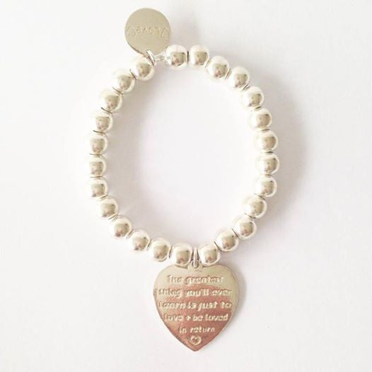 Bracelet 8mm The Greatest thing You'll ever Learn is just to Love and be Loved in Return