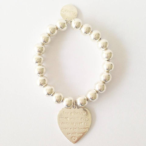 10mm Bracelet The Greatest thing you'll ever Learn is Just to Love and be Loved in Return Bracelet