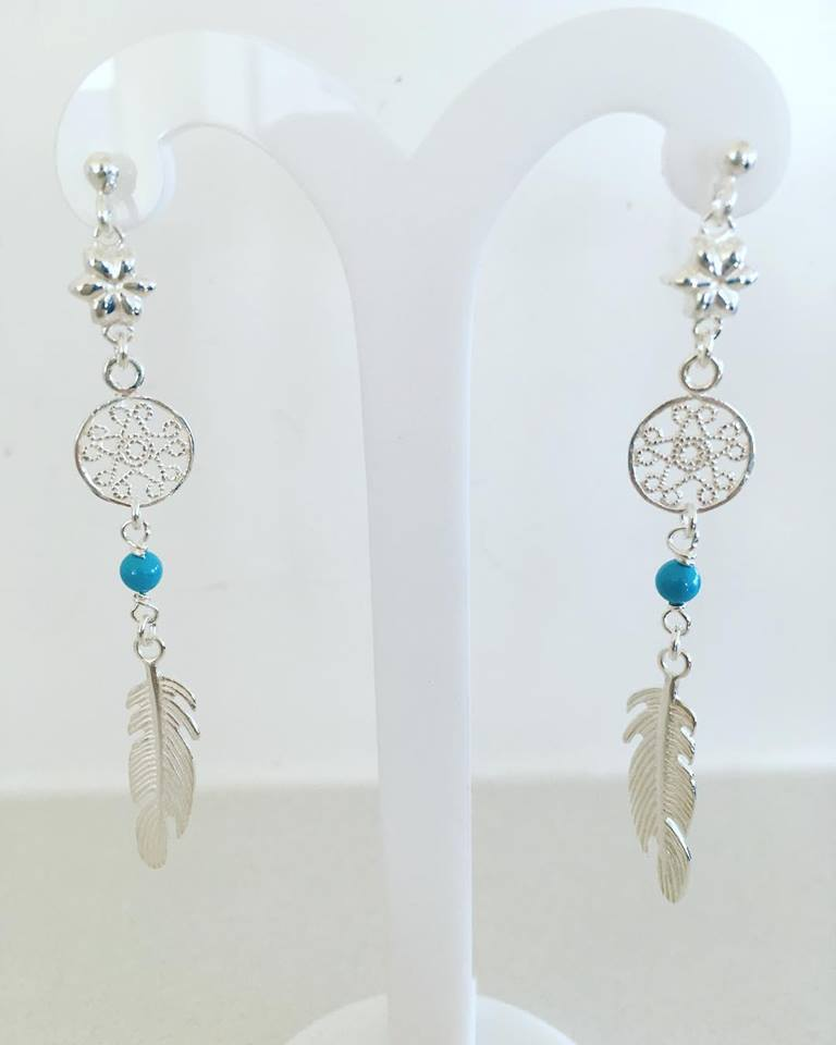 Sterling Silver Earings Dream Catcher