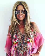 1   A A A A Caftan Top SLITS.. Pink.. NEW PRINT!! One left.. Buy NOW!!!