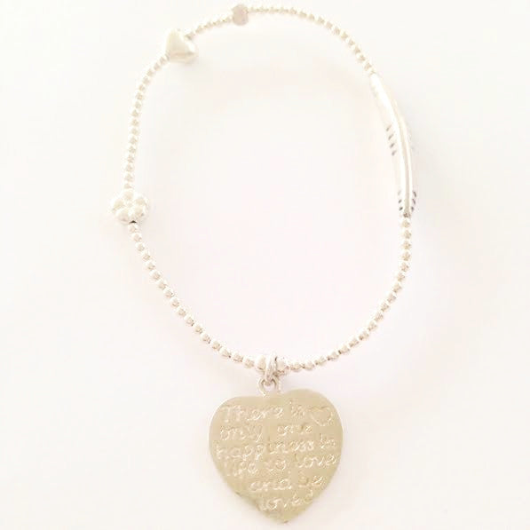 There is only one Happiness in Life to Love and be loved Bracelet