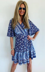 Wrap Dress Blue..