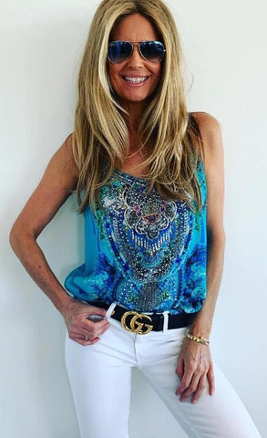 Cami Top Blue.. Size S  (10) Available NOW!!!! Resort wear