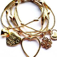 Gold I have an Open Heart Bracelet