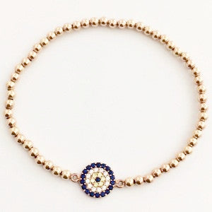 Evil Eye Protection Bracelet Rose Gold