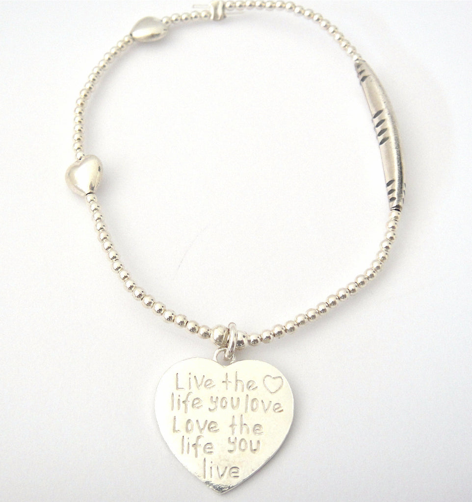 Love Bracelet Live the Life you Love Love the Life you Live
