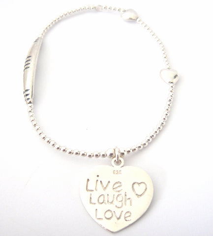 Love Bracelet Live Laugh Love