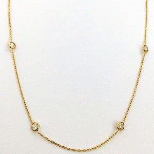 1 A  Crystal Necklace Gold
