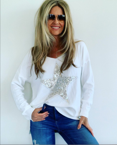 A Knit Sequin Star White.. Back in Stock NOW!!!!