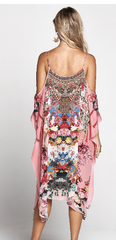 1   A A A A A Caftan Dress Cold Shoulder.. New Print!!! Pink.. One Left Buy Now!!!