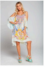 1  A A A A Caftan Dress Cold Shoulder.. New Print.. One left.. Buy Now!!!