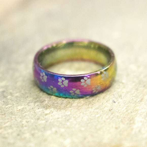 Rainbow Dog/Cat Ring
