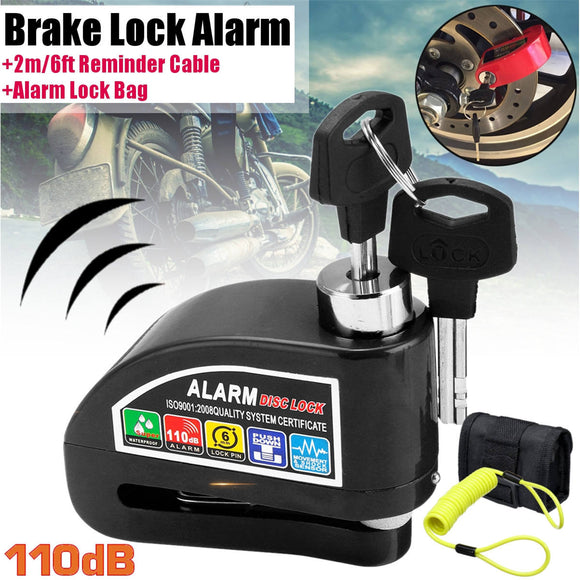 5 Colors Metal Motorcycle Disc Lock Alarm