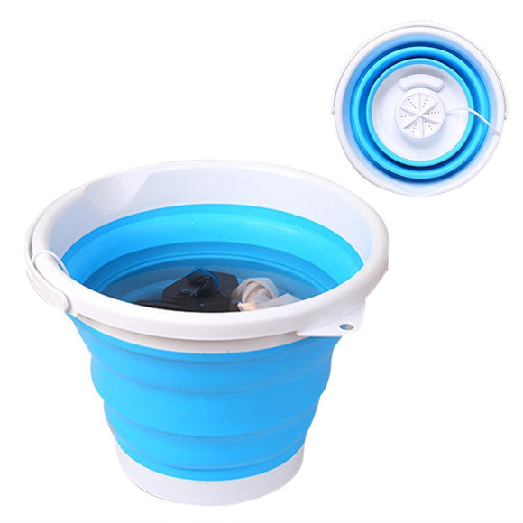 3-in-1 Mini Ultrasonic Washing Machine Foldable Bucket