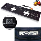 Waterproof European License Plate Frame Rear View Camera