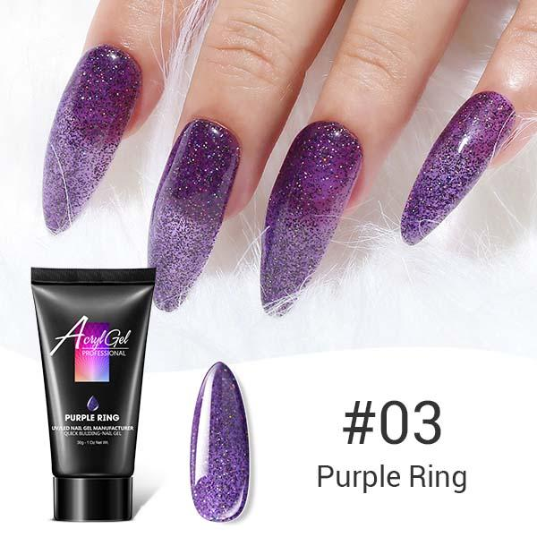 Glitter Poly Nail Gel-Purple Ring