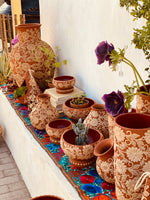 Two time clay pottery or earthenware perfect for decoration, planters or pottery.