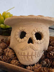 Mini Day of the Dead Skull with Sombrero