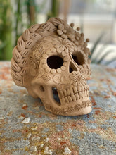 Load image into Gallery viewer, Clay Day of the Dead Skull, Large