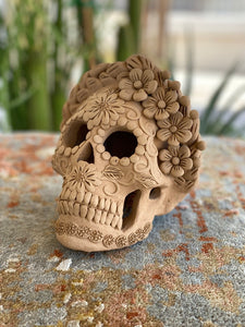 Clay Day of the Dead Skull, Large