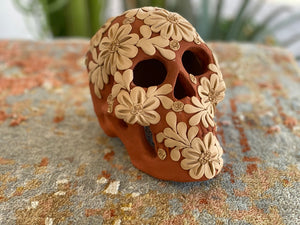 Large Clay Day of the Dead Skull