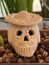 Load image into Gallery viewer, Mini Day of the Dead Skull with Sombrero