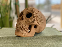 Load image into Gallery viewer, Large Clay Day of the Dead Skull